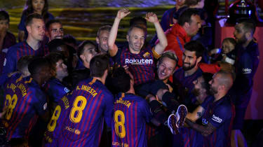 Andres Iniesta Barcelona final match pictures players