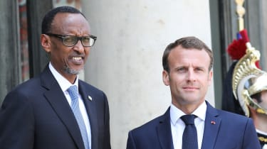 Paul Kagame and Emmanuel Macron in 2018