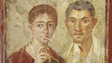 Wall painting of the baker Terentius Neo and his wife. From the House of Terentius Neo, Pompeii. AD 50 to 79. Copyright Soprintendenza Speciale per i Beni Archeologici di Napoli e Pompei / Tr