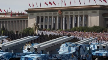 A 2015 military parade in Beijing, China