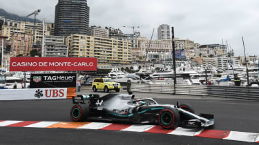 Mercedes' Lewis Hamilton drives during practice at the F1 Monaco Grand Prix