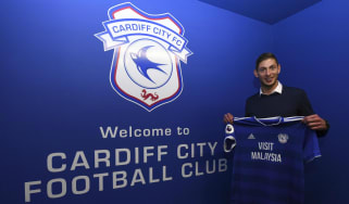 Argentinian striker Emiliano Sala joined Cardiff City for a club-record fee of £15m