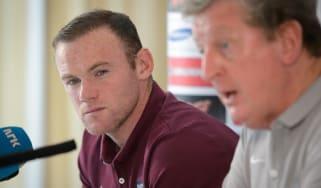 England captain Wayne Rooney and manager Roy Hodgson