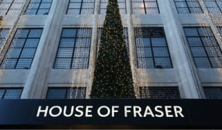 House of Fraser on Oxford Street last Christmas