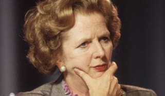 October 1985:British prime minister Margaret Thatcher looking pensive at the Conservative Party Conference in Blackpool.(Photo by Hulton Archive/Getty Images)