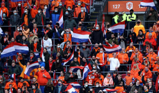 Dutch fans at the Johan Cruyff Arena in Amsterdam