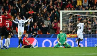 Manchester United defender Phil Jones scored an own goal against Valencia