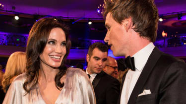 LOS ANGELES, CA - JANUARY 15: (EXCLUSIVE COVERAGE) Actors Angelina Jolie and Eddie Redmayne attend the 20th annual Critics' Choice Movie Awards at the Hollywood Palladium on January 15, 2015