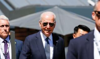 Joe Biden during the G7 summit in Cornwall