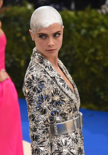 """NEW YORK, NY - MAY 01:Cara Delevingne attends the """"Rei Kawakubo/Comme des Garcons: Art Of The In-Between"""" Costume Institute Gala at Metropolitan Museum of Art on May 1, 2017 in New York City."""