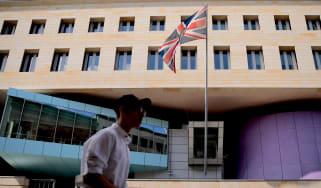 The British embassy in Berlin