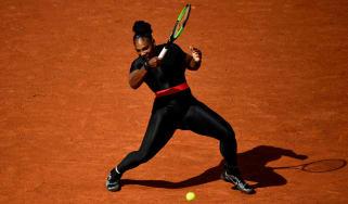 Serena Williams black catsuit French Open Paris