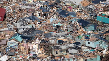A mess of damaged houses