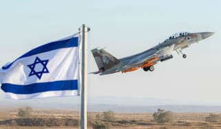 An Israeli Air Force F-15 Eagle fighter plane