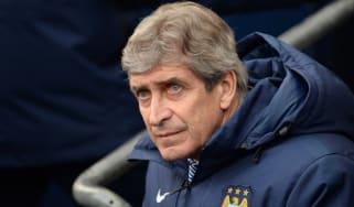 Manager of Manchester City Manuel Pellegrini