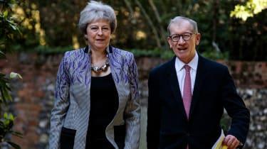 Philip May with Theresa May