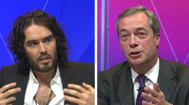 Russell Brand and Nigel Farage on BBC Question Time