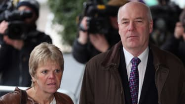 Bob Dowler and Sally Dowler before hearing the Leveson report