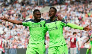 Daniel Sturridge and Divock Origi of Liverpool