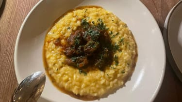 Veal and risotto