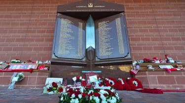 Hillsborough disaster memorial at Liverpool Football Club's Anfield stadium