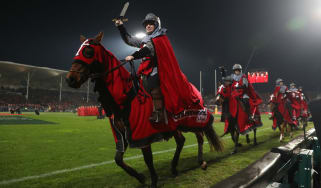 The knights on horseback will no longer feature before Crusaders home rugby matches