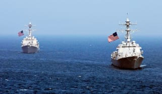US warships