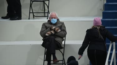 Bernie Sanders at Joe Biden's inauguration