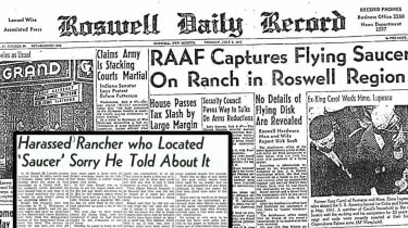 Newspaper report about Roswell
