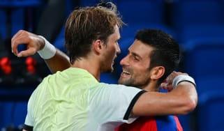 Alexander Zverev beat Novak Djokovic 1-6, 6-3, 6-1 at Tokyo 2020