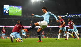 Manchester City's German winger Leroy Sane is being linked with Bayern Munich