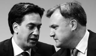 Labour leader Ed Miliband with the Shadow Chancellor Ed Balls