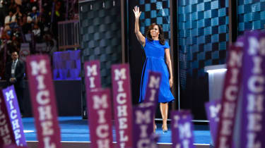 Michelle Obama addresses the Democratic National Convention