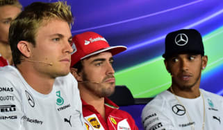 Nico Rosberg, Fernando Alonso, Lewis Hamilton