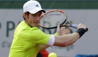 Andy Murray during the French Open