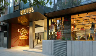 Hard Rock Hotel Madrid entrance