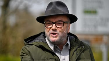 George Galloway on the campaign trail