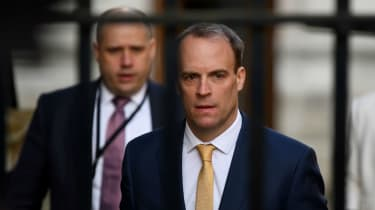 Dominic Raab outside 10 Downing Street