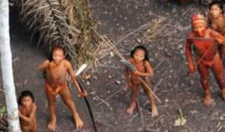 Aerial footage of one of the world's last uncontacted tribes