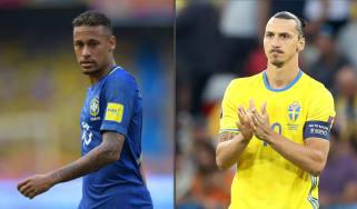 Neymar Brazil Zlatan Ibrahimovic Sweden Fifa World Cup