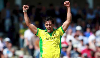 Australian bowler Mitchell Starc took 5-46 against the West Indies at Trent Bridge