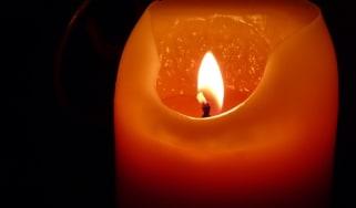 A burning candle