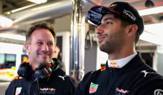Daniel Ricciardo Red Bull Racing Christian Horner