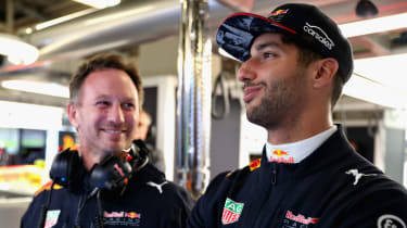 Daniel Ricciardo Red Bull Racing Christian Horner