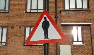 Anti-Semitic road sign
