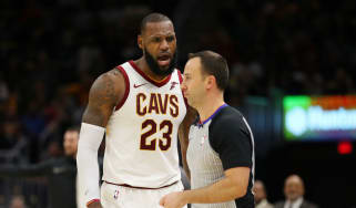 LeBron James ejected NBA Cleveland Cavaliers Miami Heat