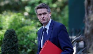 Gavin Williamson arrives at 10 Downing Street.