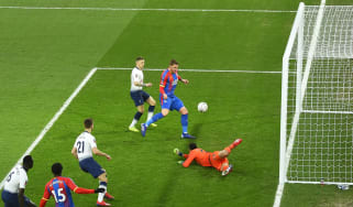 Connor Wickham scored the opening goal for Crystal Palace against Tottenham