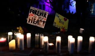 A candlelight vigil following a shooting in Boulder, Colorado