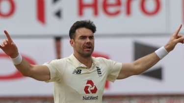England bowler James Anderson (England Cricket/Twitter)